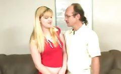 Hot blonde slut gets spanked hard
