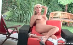 Nasty hot and sexy blonde teen slut