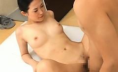 Asian gal has fucking and sucking